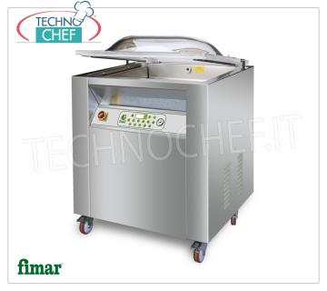 FIMAR - Technochef, Digital Vacuum Packing Machine, Professional, Mod.CAM 900C TOP VACUUM PACKAGING MACHINE DIGITAL PROGRAMMABLE on MOBILE, Brand FIMAR, TOP Line, CAMERA mm.920x570x220h, 2 WELDING BARS of 500 and 900 mm, VACUUM PUMP 63 m³ / h, V.230 / 1-400 / 3 + N , Kw.2.00, Weight 205 Kg, dim.mm.1040x680x1050h