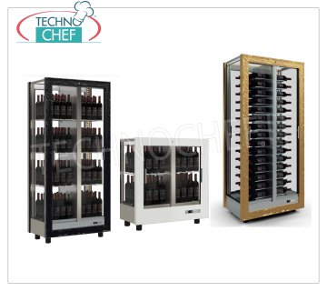 Wooden refrigerated wine cabinets