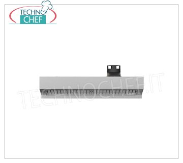 Unox - HOOD with STEAM CONDENSER for 600x400 OVENS, model XEKHT-HCEU Hood with Steam Condenser, water connection required, Discharge chimney diameter: 121 mm, Min. Flow. air: 550 m3 / h - Max. flow air: 750 m3 / h, Kw 0.2, Weight 23 Kg, dim.mm.800x863x276h