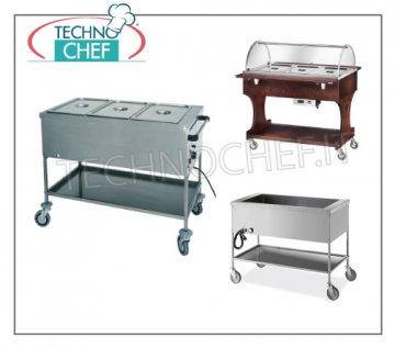 Heated food distribution trolleys