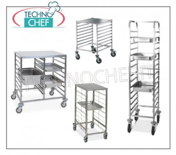 trolleys for Gastronorm basins and baking-pans