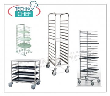 trolleys for pizza/pastry baking-pans