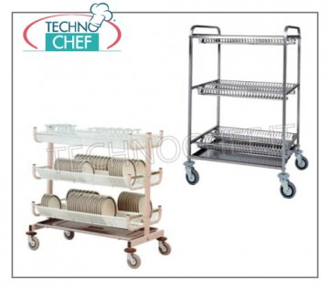 dish/glass-draining trolleys