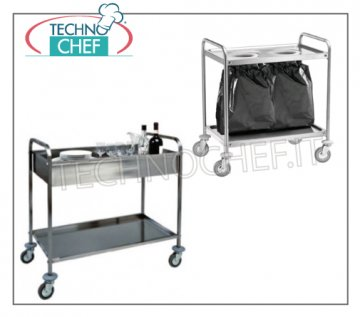 Stainless steel cleaning trolleys