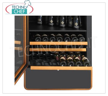 ENOFRIGO - Technochef - Complete kit with removable drawers, Mod.EF-KTCH1600 Complete kit consisting of 10 removable drawers, max capacity 140 Bordeaux bottles, size mm (WxD) 686x545