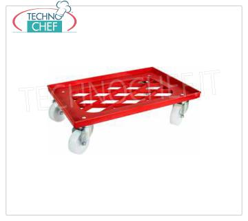 Technochef - TROLLEY for CONTAINERS PIZZA dough from 60x40 cm, mod CB1449 Trolley in ABS for pizza pans boxes of mm 600x400, dim.mm.620x420x165h