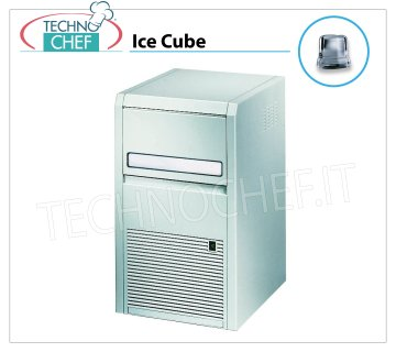 ICE MACHINE 22 Kg / 24 hours, FULL CUBES with 4 Kg DEPOSIT Ice makers 22 Kg / 24 hours, full cubes, 4 Kg storage, external ABS, air cooling, V 230/1, Kw 0.32,, weight 27.5 Kg, dimensions 355x404x690 h mm,