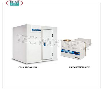 MISA - Technochef, Freezing-Freezers, Temperature -14 ° -22 °, Mod.KLM24-28 / S10 MISA prefabricated freezing cell, suitable for low temperature (-14 ° -22 °), made of modular sandwich panels, 100 mm thick, with revolving door and floor, internal volume: 14.0 meters / cubic, external dimensions, mm. 2630x3030x2230 h