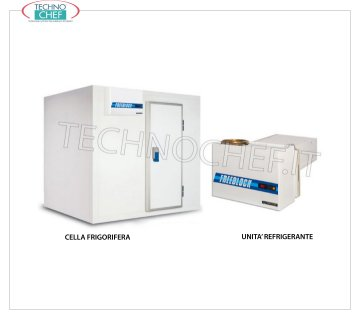 MISA - Technochef, Freezing-Freezers, Temperature -14 ° -22 °, Mod.KLM18-18 / S10 MISA prefabricated freezing cell, suitable for low temperature (-14 ° -22 °), made of modular sandwich panels, 100 mm thick, with revolving door and floor, internal volume: 6.8 meters / cubic, external dimensions, 2030x2030x2230h mm