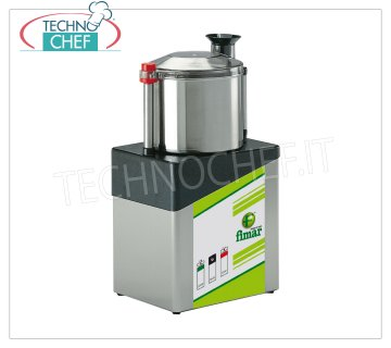 FIMAR - Technochef, Professional Stainless Steel Cutter with 8 liter tank, Mod.CL8 Professional Stainless Steel Cutter with 8 liter bowl, 1 speed, 1400 rpm, V.400 / 3 + N, Kw.0,75, Weight 19 Kg, dim.mm.240x310x620h