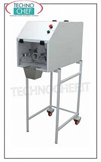 Dough dividers, rounders AUTOMATIC DIVIDER for pasta, MAX LOAD IN TANK 35 kg, for PORTIONS from 20 to 300 grams with photocell weight adjustment, VERSION ON STAND, V. 230/1, kw 0.37, weight 79 kg, dimensions mm 440x830x1480h