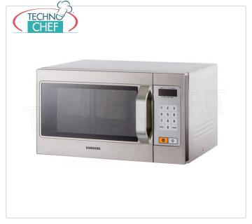 SAMSUNG - Technochef, Semi-Professional microwave oven mod. CM1089, digital controls SAMSUNG Semi-Professional microwave oven, DIGITAL CONTROLS with 20 programs, suitable for GN 1/2 trays, power output 1,1 Kw, 5 power levels, 1 magnetron, V.230 / 1, Kw.1,6, weight 17 , 5 Kg, dim.mm.517x412x297h