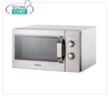 SAMSUNG - Technochef, Semi-Professional microwave oven mod. CM1099, manual controls, SAMSUNG Semi-Professional microwave oven, MANUAL CONTROLS, suitable for GN 1/2 pans, power output 1,1 Kw, 5 power levels, 1 magnetron, V.230 / 1, Kw.1,6, weight 17,5 Kg , dim.mm.517x412x297h