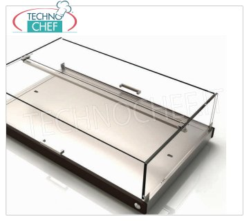 REFRIGERATED SHOWCASE with 3 EUTECTIC PLATES, mod.CNE87 REFRIGERATED display cabinet with 3 EUTECTIC PLATES suitable for the buffet, made with wooden sides in the standard colors, plexiglass dome with drop-down doors on 2 fronts, Weight 17 Kg, dim.mm.870x525x250h