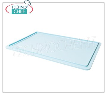 Cover for pizza box from 600x400 mm, light blue color Lid for all models of cassettes in food-grade polyethylene, light blue color, weight 0.90 kg, dim.mm.600x400x20h