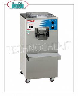 TECHNOCHEF - Professional batch freezer for ice cream and granite, capacity lt. 4, Mod.GEL20 VERTICAL CYLINDER BATCH FREEZER for ICE CREAM and GRANITE on furniture with AUTOMATIC EXTRACTION, CYCLE MIXTURE CAPACITY 4.0 l, hourly production: ICE CREAM 20 l, GRANITE 40 l, air cooling, V.400 / 3 + N, Kw 2, 2, dimensions 460x510x960h mm
