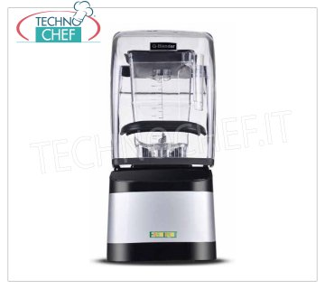 EASYLINE - Technochef, Professional Blender with soundproofing, Mod.CS1107 Blender with soundproofing, EASYLINE-FIMAR, 2-liter glass, touch screen panel, speed 30000 rpm, V.230 / 1, Kw.1.8, Weight 7 Kg, dim.mm.239x229x461h