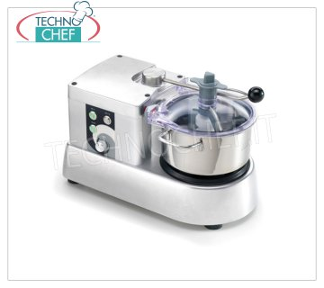 SIRMAN - Professional Cutter with 6.3 liter tank, Mod.CTRONIC4VT Professional Cutter with lt.3,3 stainless steel tank, speed variator stabilized from 600 to 2800 rpm, V.230 / 1, Kw.0.35, Weight 13 Kg, dim.mm.457x251xx300h