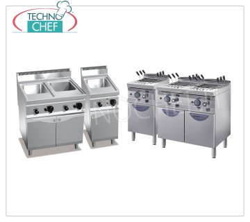 pasta cookers on cabinet