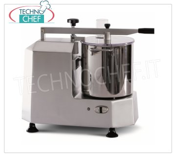 TECHNOCHEF - Professional Cutter with 8 lt tank, Mod.C3 Professional table cutter with 8 liter tank, 1 speed (730 rpm), V 230/1, Kw 1.15, weight 24.9 kg, dim. mm 710x320x850h.