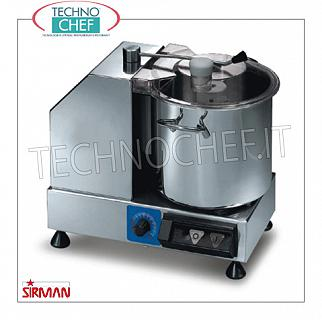 SIRMAN - Table cutter with 9.4 liter bowl, professional, mod. C9VV STAINLESS STEEL TABLE CUTTER, brand SIRMAN, tank capacity 9,4 lt, variable speed 1,500 / 2,800 rpm, V.230 / 1, Kw.0,7, Weight 25 Kg, dim.mm.455x355x380h