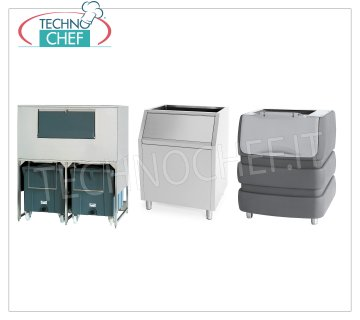Ice bins for ice cube makers