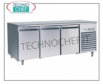 Removable refrigerated tables Removable refrigerated table, 3 doors, ventilated, temp. -2 ° + 8 °, lt.441