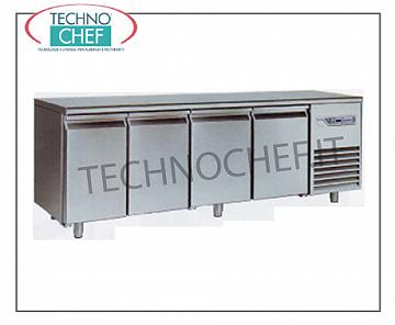 Removable refrigerated tables Removable refrigerated table, 4 doors, ventilated, temp. -2 ° + 8 °, lt.600
