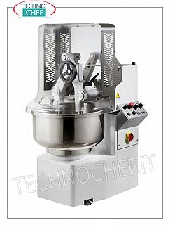 TECHNOCHEF - DIFFUSER ARMS MIXER, with FIXED STAINLESS STEEL TANK, 67 lt, TWINTECH452T model Kneading machine with dipping arms, TWINTECH line, with 1 height-adjustable arm, 67 liter stainless steel fixed bowl, 46 kg dough capacity, 2-speed version, 2 digital timers, V.400 / 3, Kw.1.1 / 1 , 6, Weight 265 Kg, dim.mm.690x870x1330h