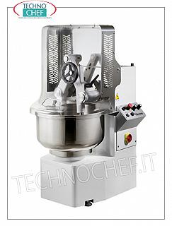 TECHNOCHEF - DIFFUSER ARMS MIXER, with FIXED STAINLESS STEEL TANK, lt. 81, Model TWINTECH552T Kneading machine with dipping arms, TWINTECH line, with 1 arm adjustable in height, with 81 liter stainless steel fixed bowl, dough capacity 57 Kg, 2-speed version, 2 digital timers, V.400 / 3, Kw.1,1 / 1.62, Weight 272 Kg, dim.mm.690x880x1400h
