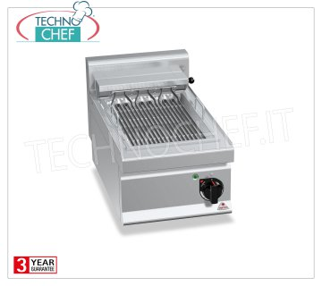 TECHNOCHEF - ELECTRIC GRID, 1 TOP module, Kw.4,08, Mod.E7CG40B ELECTRIC GRILL, BERTOS, MACROS 700 Line, ELECTRIC GRILL Series, 1 TOP module, V.400 / 3 + N, Kw.48, Weight 40 Kg, dim.mm.400x700x290h