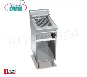 TECHNOCHEF - ELECTRIC GRILL, 1 module on DAY COMPARTMENT, Kw.4,08, Mod.E7CG40M ELECTRIC GRILL, BERTOS, MACROS 700 Line, ELECTRIC GRILL Series, 1 module on DAY COMPARTMENT, V.400 / 3 + N, Kw 4.08, Weight 49 Kg, dim.mm.400x700x900h