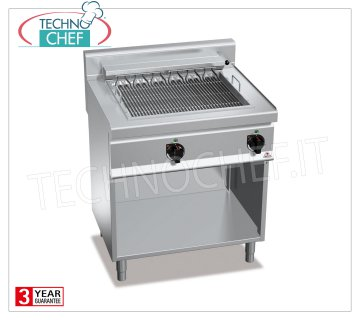 TECHNOCHEF - ELECTRIC GRILL, DOUBLE module on DAY COMPARTMENT, Kw.8,16, Mod.E7CG80M ELECTRIC GRILL, BERTOS, MACROS 700 Line, ELECTRIC GRILL Series, DOUBLE module on DAY COMPARTMENT, INDEPENDENT CONTROLS, V.400 / 3 + N, Kw.8,16, Weight 92 Kg, dim.mm.800x700x900h