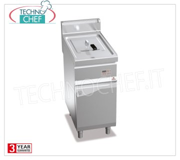 TECHNOCHEF - GAS FRYER on MOBILE, 1 lt.18 tank, Mod.GL18MI-E GAS FRYER on MOBILE, BERTOS, MACROS 700 Line, INDIRECT GAS FRY Series, 1 18-liter tank, external burners, digital electronic controls, heat output Kw.14.00, Weight 47 Kg, dim.mm.400x700x900h