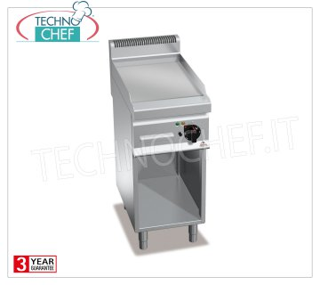 TECHNOCHEF - ELECTRIC FRY TOP with SMOOTH PLATE, 1 module on DAY COMPARTMENT, Mod. E7FL4MP ELECTRIC FRY TOP with SMOOTH PLATE, BERTOS, MACROS 700 Line, MULTIPAN POWERED Series, 1 module on DAY COMPARTMENT with COOKING AREA of 395x500 mm, V.400 / 3 + N, Kw.4.8, Weight 48 Kg, dim. mm.400x700x900h