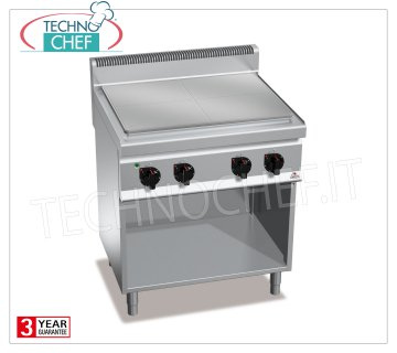 TECHNOCHEF - ELECTRIC TUTTAPIASTRA KITCHEN on COMPARTMENT ROOM, Kw.9, Mod.E7TPM TUTTAPIASTRA ELECTRIC KITCHEN on DAY COMPARTMENT, BERTOS, MACROS 700 Line, HIGH POWER Series, 4 COOKING ZONES, INDEPENDENT CONTROLS, V.400 / 3 + N, Kw.9.00, Weight 100, dim.mm.800x700x900h