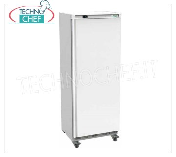 Forcar - 1 Door Fridge Cabinet, lt. 641, Ventilated, Temp. + 2 ° / + 8 ° C, Class C, model G-ER700 1 Door Refrigerator Cabinet, Professional, external structure in white sheet, internal in ABS, lt. 641, Temp. + 2 ° / + 8 ° C, ECOLOGICAL in Class C, Gas R600a, Ventilated, V.230 / 1, Kw. 0.3, Weight 105 Kg, dim.mm.777x730x1895h