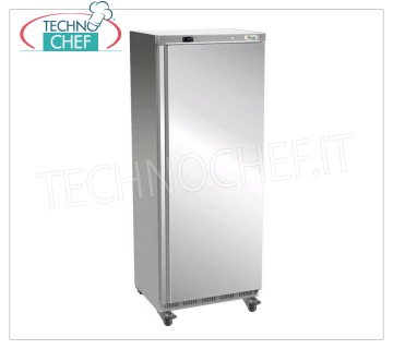 Forcar - 1 Door Fridge Cabinet, lt. 641, Ventilated, Temp. + 2 ° / + 8 ° C, Class C, model G-ER700SS 1 Door Refrigerator Cabinet, Professional, external structure in 430 stainless steel, internal in ABS, lt. 641, Temp. + 2 ° / + 8 ° C, ECOLOGICAL in Class C, Gas R600a, Ventilated, V.230 / 1, Kw .0,3, Weight 105 Kg, dim.mm.777x730x1895h