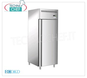 Forcold - 1 Door Fridge Cabinet, lt. 650, Ventilated, Temp.-2 ° / + 8 ° C, Class D, Mod.G-GN650TN-FC 1 Door Refrigerator Cabinet, Professional, lt. 650, Temp.-2 ° / + 8 ° C, EC-CLASS in Class D, Gas R290, Ventilated, Gastronorm 2/1, V.230 / 1, Kw.0.305, Weight 120 Kg , dim.mm.740x830x2010h.