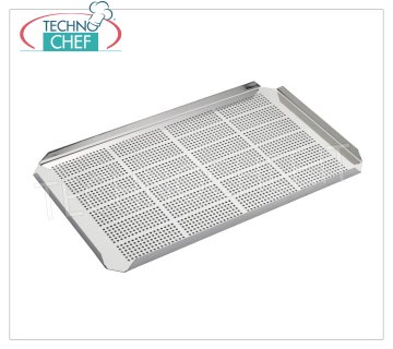 Technochef - FALSE GN 1/1 STAINLESS BOTTOM Perforated false bottom in 1/1 Gastronorm stainless steel, size 457x270mm