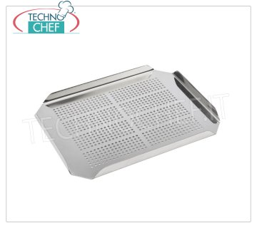 Technochef - FALSE GN 1/2 STAINLESS BOTTOM Perforated false bottom in stainless steel Gastronorm 1/2, dim.mm.200x260