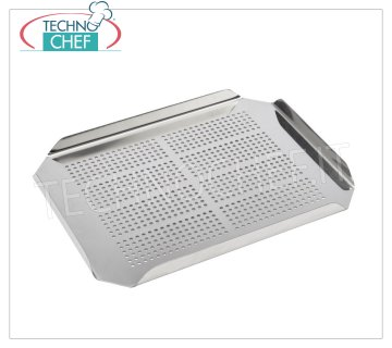 Technochef - FALSE GN 1/3 STAINLESS BOTTOM Perforated false bottom in 1/3 Gastronorm stainless steel, dim.mm.260x115