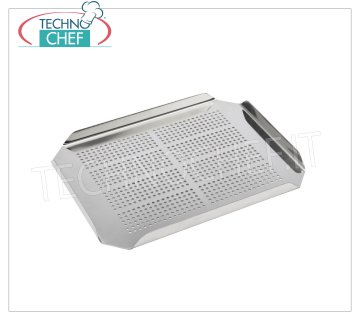 Technochef - FALSE GN 2/3 STAINLESS BOTTOM Perforated false bottom in Gastronorm 2/3 stainless steel.