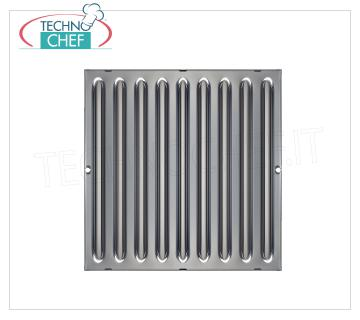 Labyrinth grease filter for extractor hoods Grease filter for suction hoods of the labyrinth type built in stainless steel, dim.mm.400x500x20h