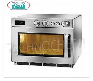 SAMSUNG, Professional microwave oven, mod. CM1519A, MANUAL CONTROLS SAMSUNG Professional microwave oven, with MANUAL CONTROLS, chamber of mm.370x370x190h, suitable for GN 2/3 trays, power output 1.5 Kw, 5 power levels, 2 magnetrons of 750 W, V.230 / 1, Kw.2 , 9, weight 32 Kg, dim.mm.464x557x368h