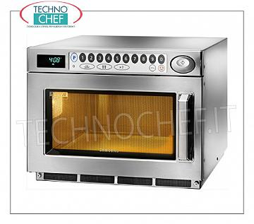 SAMSUNG, Professional microwave oven, mod. CM1929A, DIGITAL CONTROLS SAMSUNG Professional microwave oven, DIGITAL CONTROLS with 30 programs, chamber mm.370x370x190h, suitable for GN 2/3 trays, power output 1.85 Kw, 2 magnetron 925 W, V.230 / 1, Kw.3,2, weight 32 Kg, dim.mm.464x557x368h