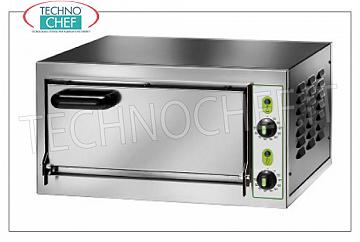 Technochef - 1 chamber electric pizza oven, mod. MICRO1C Electric pizza oven with CAMERA 405x405x110h mm, stainless steel front, V 230/1, kW 2,2, dim. external 555x460x290h mm