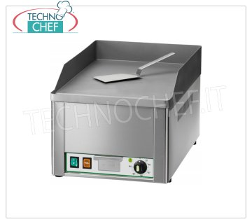 FIMAR - Technochef, Professional Electric Bench Fry Top, Smooth Plate, Mod.FRY1L ELECTRIC tabletop FRY TOP, 1 MODULE with SMOOTH SANDED STEEL PLATE, THERMOSTATIC CONTROL from 50 ° to 300 ° C, V 230/1, Kw 3.00, external dimensions mm 335x570x300h