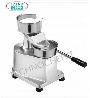 FIMAR - Technochef, manual Hamburger, Ø 100 mm, Mod.HF-100 Manual Hamburger with 100 mm diameter, made of aluminum and stainless steel, dim.mm.320x250x300h