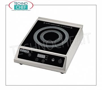 Technochef - INDUCTION PLATE for Table, INDUCTIVE SURFACE Ø from 140 to 220 mm INDUCTION PLATE for table, INDUCTIVE SURFACE: diameter from 140 to 220 mm, V. 230/1, Kw 2,7, Weight 5 Kg, dim. mm. 325x370x105h